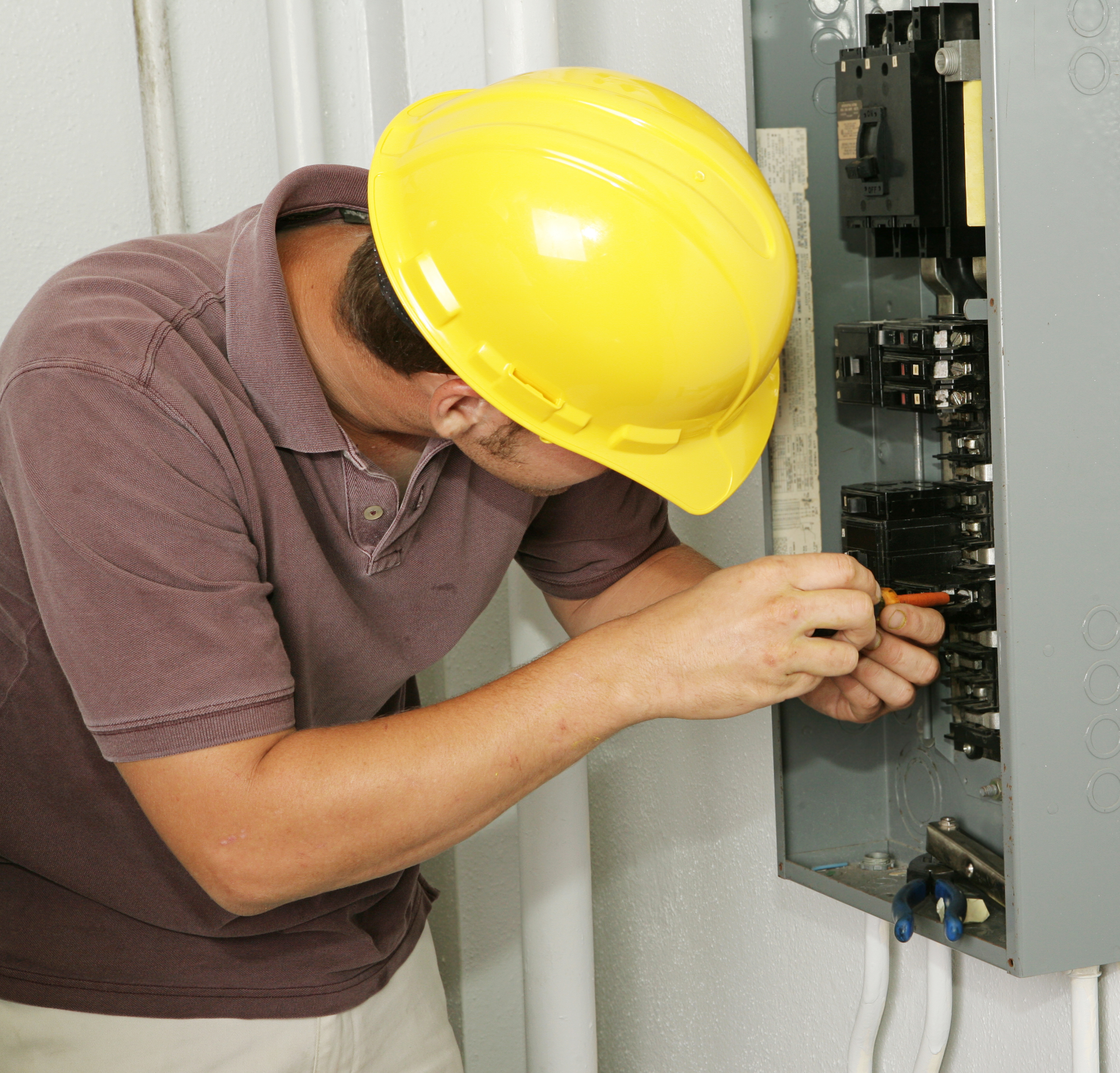 bigstock Electrician Breaker Panel 2009684 how to remove a circuit breaker from the box efcaviation com removing circuit breaker from fuse box at fashall.co
